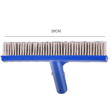 Homeholiday 10 inch Steel Wire Swimming Pool Brush Moss Algae Cleaning Tool Wide Pond Spa Hot Spring Pools Cleaner Brush - image 4 de 8