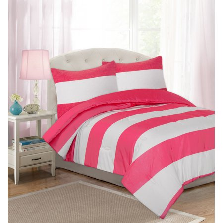 Your Zone Cabana Stripe Comforter Set (Cabana Comforter Set)