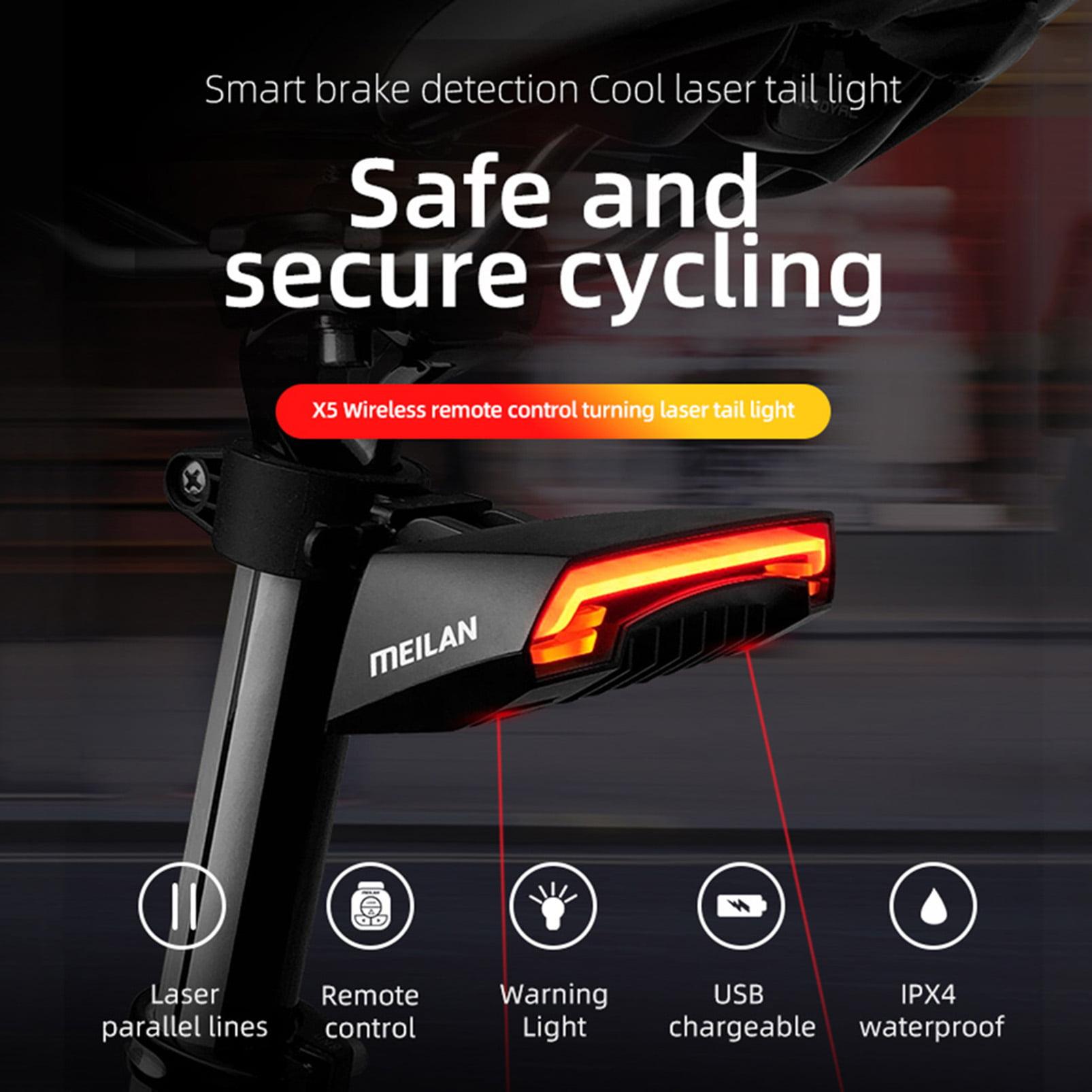 Meilan X5 Fahrrad Rücklicht Bike Remote Wireless Blinker Radfahren LED DHL T6D3