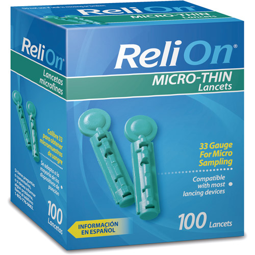 ReliOn 33G Micro Thin Lancets 100ct