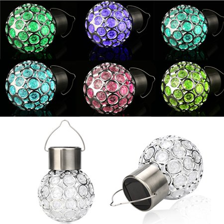 Tuscom Waterproof Solar Rotatable Outdoor Garden Camping Hanging LED Round Ball Lights ()