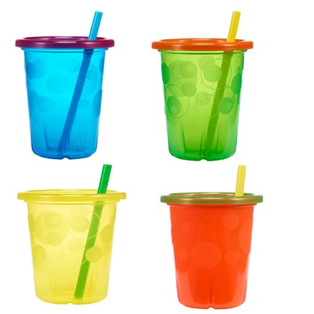 Take & Toss Straw Cup, 10 Ounce, 4 Pk