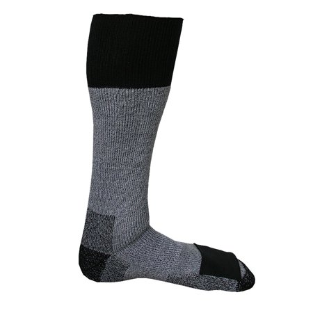 Merino Wool Socks with Toe Heat Warmer Pockets, Medium
