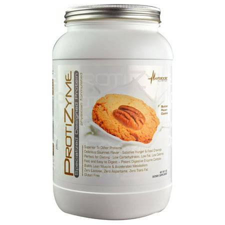Metabolic Nutrition Protizyme Protein Powder, Butter Pecan Cookie, 2 Lb