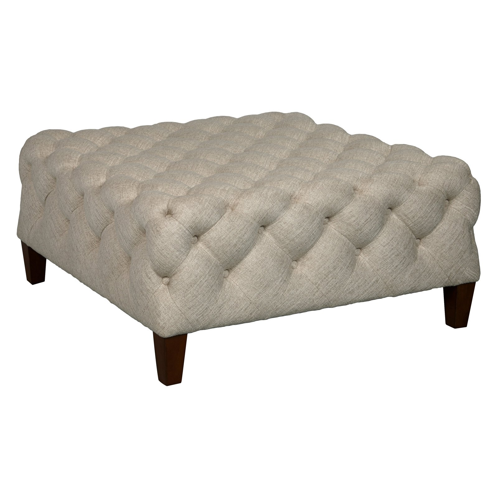 Square Button Tufted Cocktail Ottoman