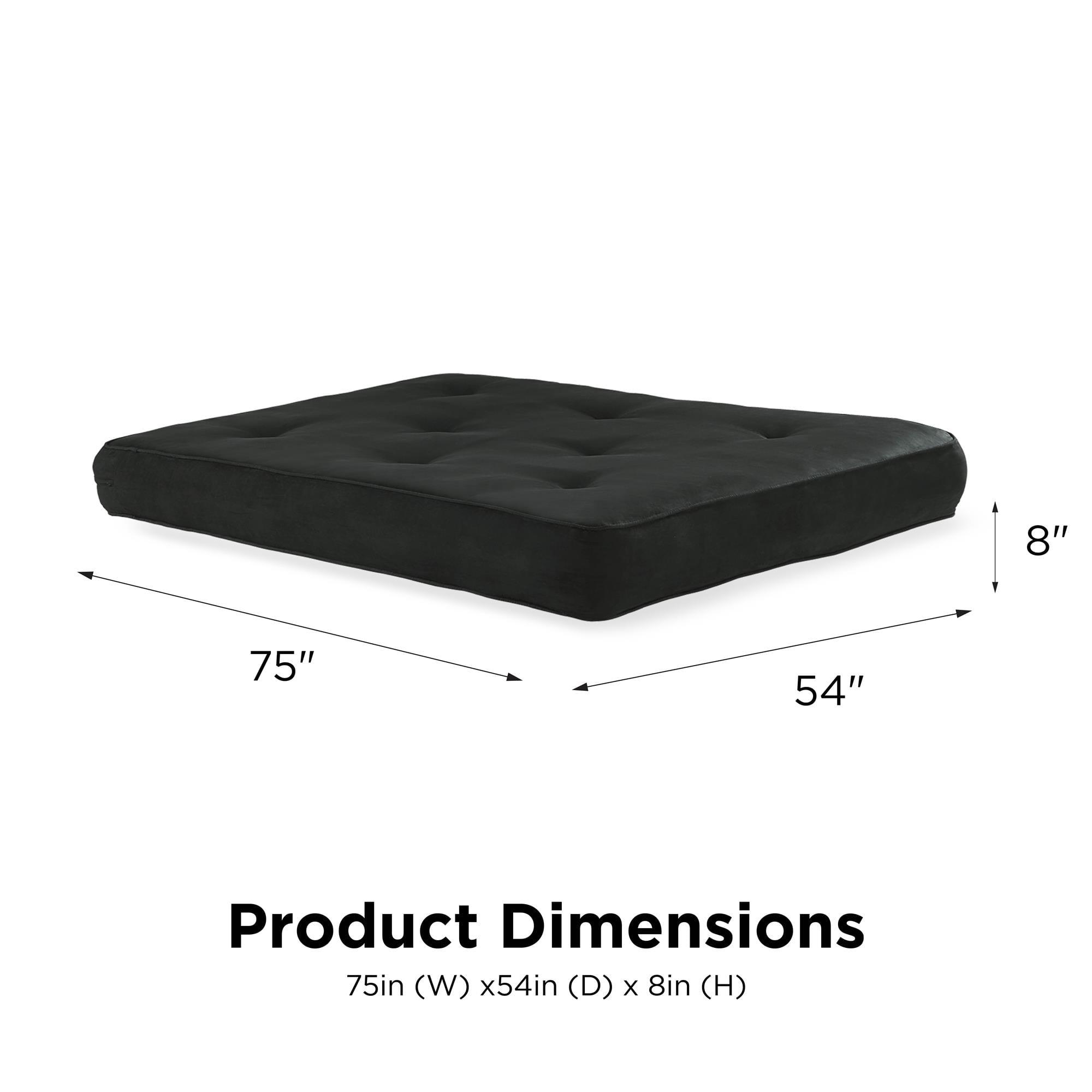 Dhp 8 Inch Independently Encased Coil Futon Mattress Brown Microfiber Walmart Com Walmart Com