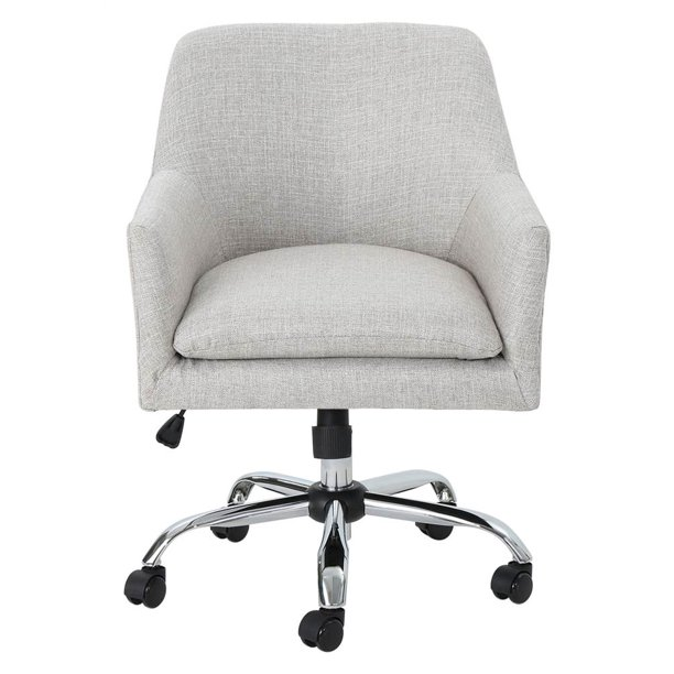 Johnson Fabric Home Office Chair With Chrome Base In Beige Walmart Com Walmart Com