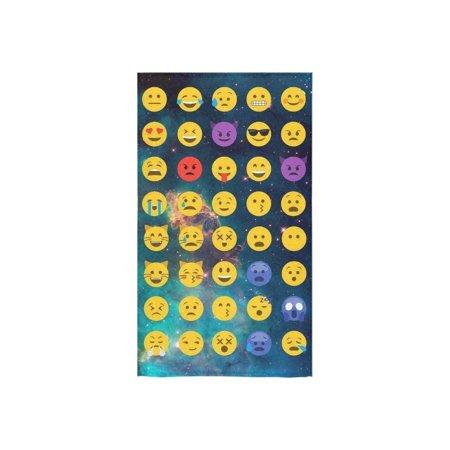 "ZKGK Cute Emoji Galaxy Nebula Hand Towel Bath Towels For Home Outdoor Travel Use 16"" x 28"" Inche"