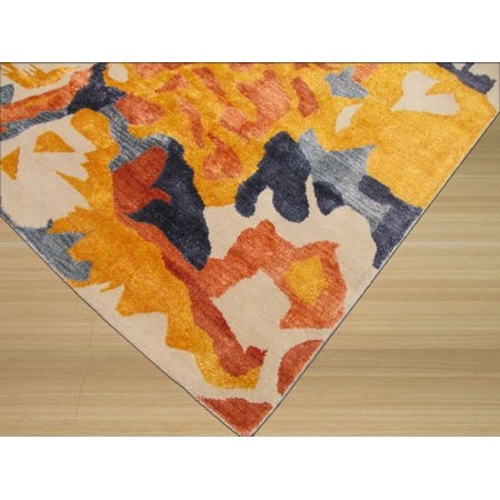 EORC IE54MU5X8 5 x 8 ft. Hand Tufted Wool & Viscose Bamboo Picaso Contemporary Abstract Rug, Ivory - Rectangle - image 1 of 2