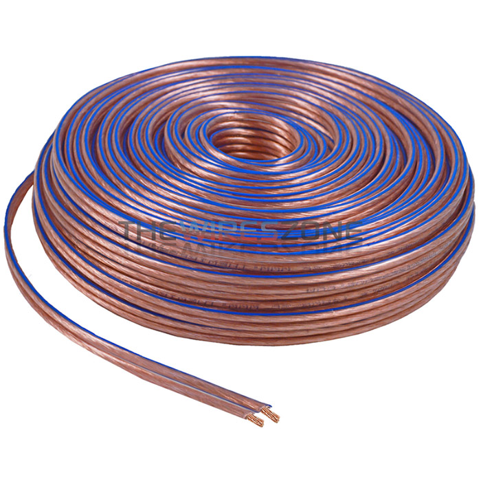 16 Gauge 25 Feet 2 Conductor Stranded Speaker Wire For Car Home Audio 25ft Blue