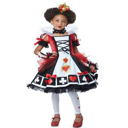 Queen of Hearts Child Halloween Costume - Queen Of Hearts Makeup For Halloween