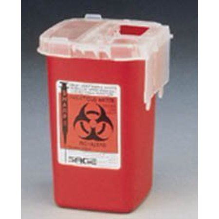 Kendall Monoject Sharps Containers (PT# 8900SA PT# # 8900SA- Container Sharps Autodrop Phlebotomy Red 1qt Ea by,, By Kendall Company)