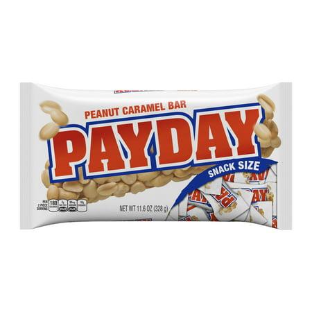 Payday Snack Size Peanut Caramel Bars  11 6 Oz