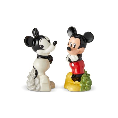Enesco Disney Ceramics Mickey Then and Now Salt & Pepper New with Box ()