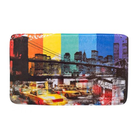 House Floor Mats, Brooklyn Bridge Porch Modern Decorative Indoor Floor Mat ()