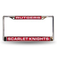 Rutgers Scarlet Knights NCAA Chrome Laser Cut License Plate Frame
