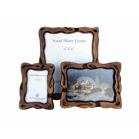 Sunshine Trading ST-23-5 Handmade Wood Photo Frame - 3.5 x 5 Inch