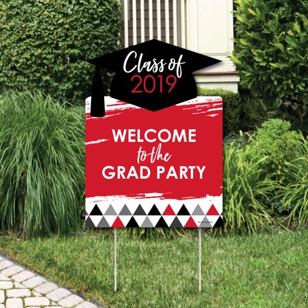 Red Grad - Best is Yet to Come - Party Decorations - 2019 Graduation Party Welcome Yard Sign (Welcome To Our Halloween Party)