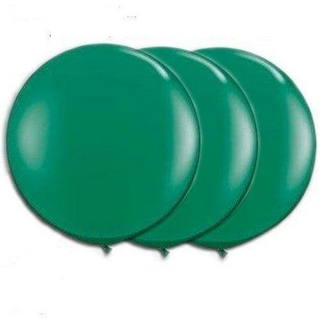36 Inch Giant Round Green Latex Balloons by TUFTEX Pkg/3 - Balloon Light