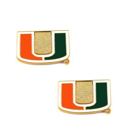 - NCAA Miami Hurricanes Sports Team Logo Post Stud Earring Set