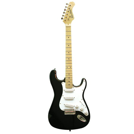 Main Street MEDCBK Double Cutaway Electric Guitar With High-Gloss Black Finish