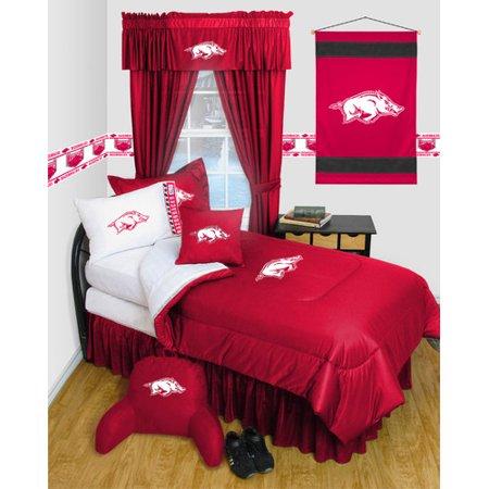 NCAA University of Arkansas Bedskirt