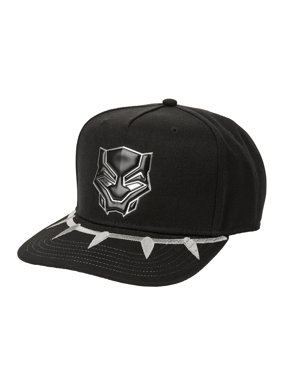 c828b7a00905a Product Image Men s Marvel Comics Black Panther Flat Bill Cap With  Ballistic Nylon Bill and Chrome Weld Logo