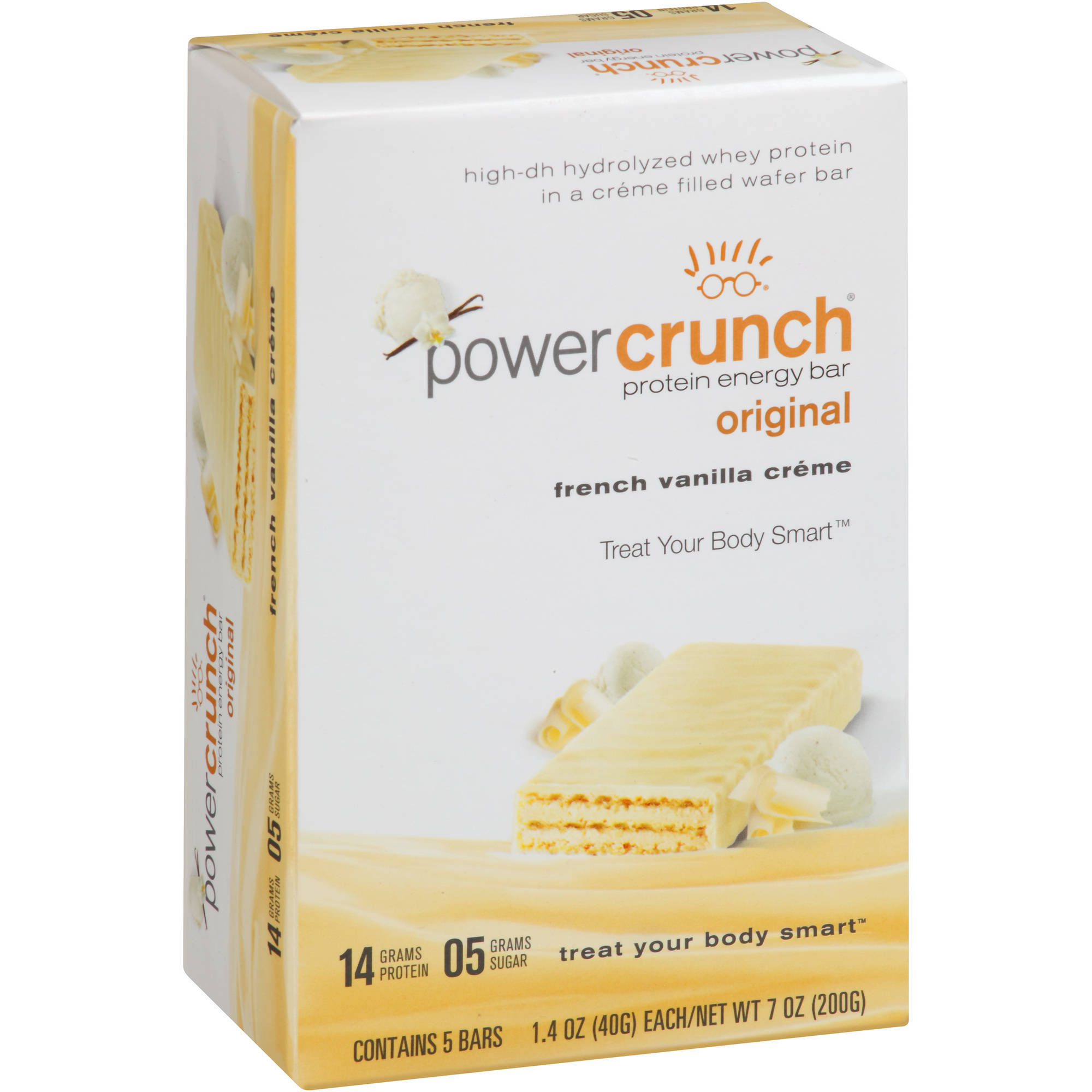 Power Crunch Original French Vanilla Creme Protein Energy Bars, 1.4 oz, 5 count