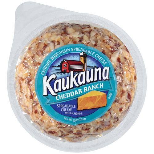 Kaukauna Cheddar Ranch Spreadable Cheeseball with Almonds, 10 oz