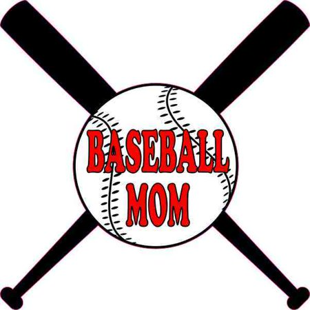 4in x 4in Baseball Mom Sticker Vinyl Sports Decal Ball and Bats