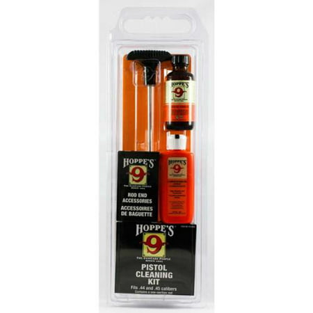 Hoppes Pistol Cleaning Kit with Aluminum Rod, .38/.357/9mm