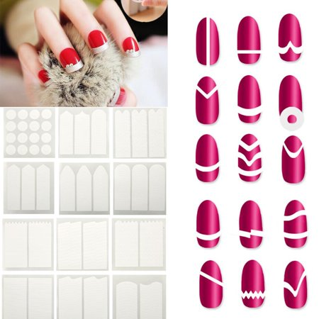 Merry Christmas Big Clearance Girl Women French Manicure Diy