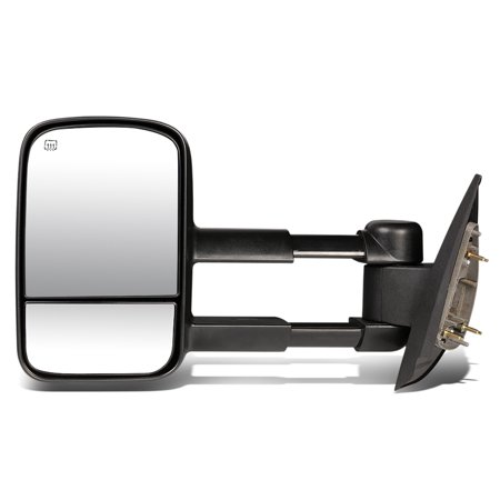 For 2007 to 2014 Chevy Silverado / GMC Sierra Powered Adjustment+Heated Tow Towing Mirror (Left /
