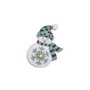 Lux Accessories Christmas Xmas Holiday Enamel Glitter Snowflake Snowman Brooch Pin