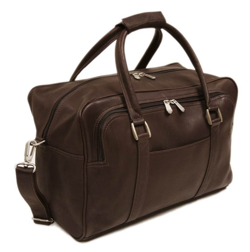 Mini Carry On Bag w Double Handles in Chocolate