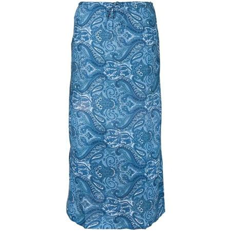 Blue Paisley Drawstring Skirt