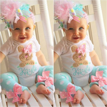 Newborn Baby Boy Girl Romper Tops + Headband+Leg Warmer 2PCS Outfits Set Clothes (Girl Boy Girl Boutique)