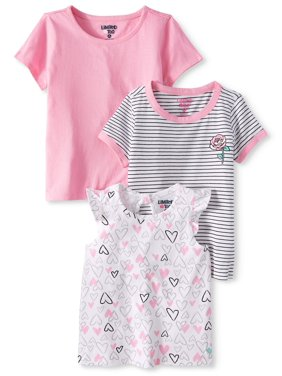 ab581beedc9c Product Image Limited Too Ruffle Sleeve, Striped & Solid T-shirts, 3-pack (