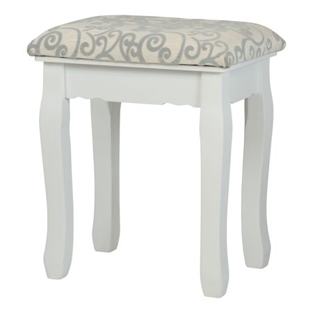 Remarkable Fineboard Vanity Stool Dressing Stool Solid Wood Legs White Cjindustries Chair Design For Home Cjindustriesco
