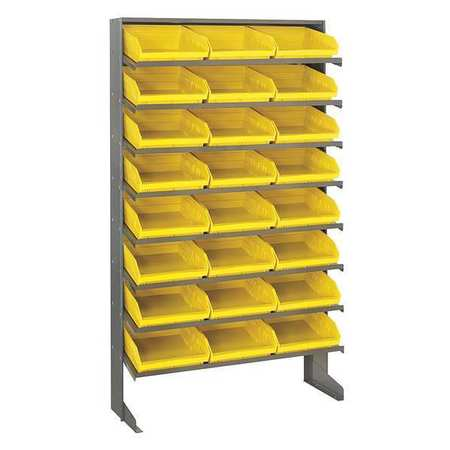 Sloped Shelving System, 12 In. D, 36 In. W QUANTUM STORAGE SYSTEMS QPRS-109YL