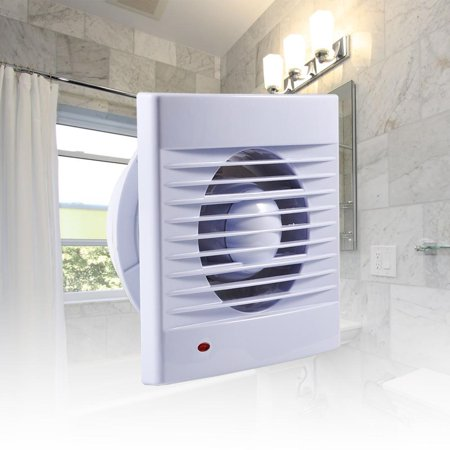 Swell Chiciris Extractor Fan 4 Inch 110V Wall Mounted One Speed Setting Shutter Ventilating Exhaust Fan For Bathroom Home Interior And Landscaping Eliaenasavecom