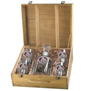 Mississippi State Bulldogs Capitol Decanter Box Set by Heritage Metalworks