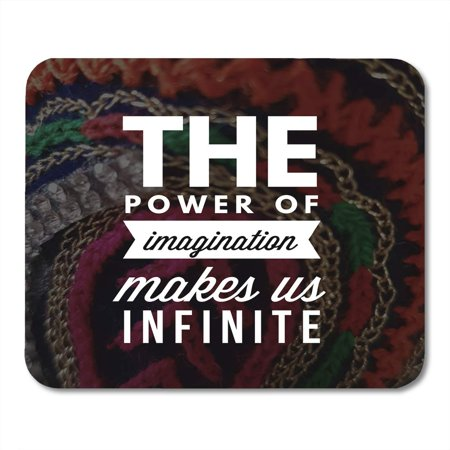 KDAGR Quote The Power of Imagination Makes Us Infinite Best Inspirational and Motivational Quotes Sayings About Mousepad Mouse Pad Mouse Mat 9x10 (Best Laptops To Make Beats On)