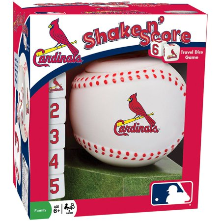 Masterpieces Mlb St  Louis Cardinals Shake N Score Dice Game