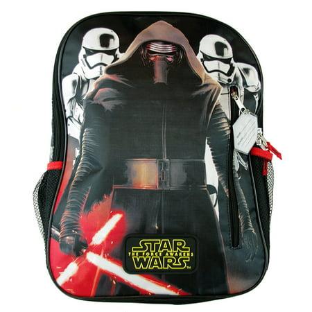 Disney Star War The Force Awakens Kylo Ren 16-inch Student Backpack Bag - - Star Wars Book Bag