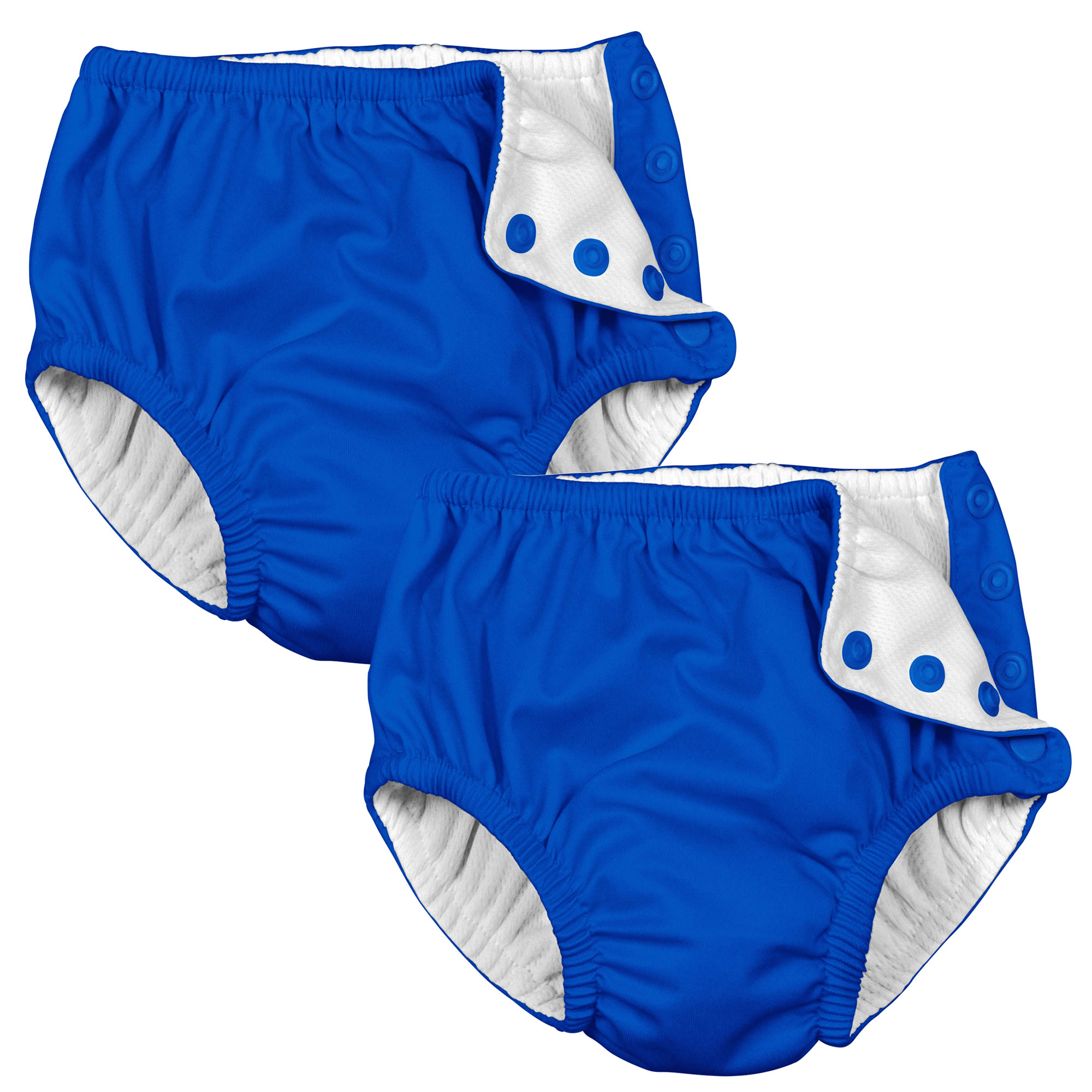 i play Baby and Toddler Snap Reusable Swim Diaper - Royal Blue - 2 Pack