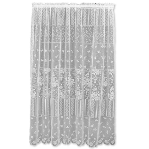 heritage lace harmony semisheer rod pocket single curtain panel product variants selector white