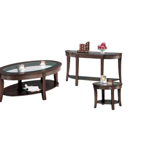 Cappuccino Coffee Table Set.3 Piece Living Room Table Set With Console Table And End Table With Coffee Table In Cappuccino