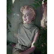 RARE Photograph of Marilyn Monroe Feeling Striped 12x16 Art Printed Poster