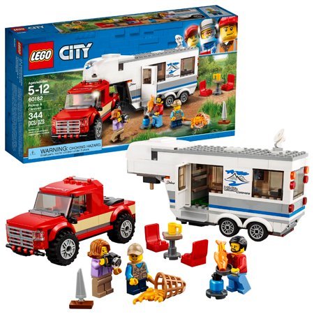 LEGO City Great Vehicles Pickup & Caravan 60182 (344 Pieces)